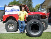 Click to see larger image of Jerry Sparkman, the lucky winner from Source Interlink and BFGoodrich Tires