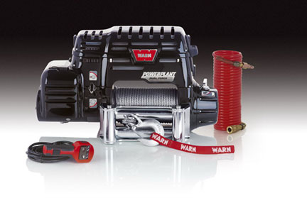 warn introduces new power plant winch and air compressor. Black Bedroom Furniture Sets. Home Design Ideas