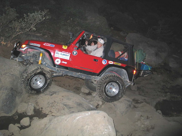 Click here for a larger image of these nightcrawlers (Del and Stacie on the Rubicon)