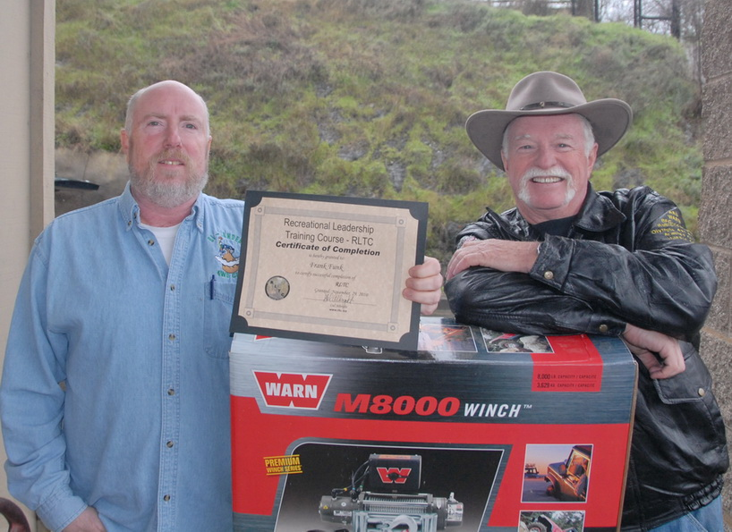 Frank Funk and Del with WARN Winch