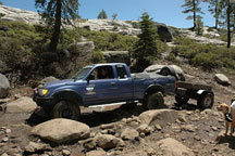 click to see rock hauling trailers in action